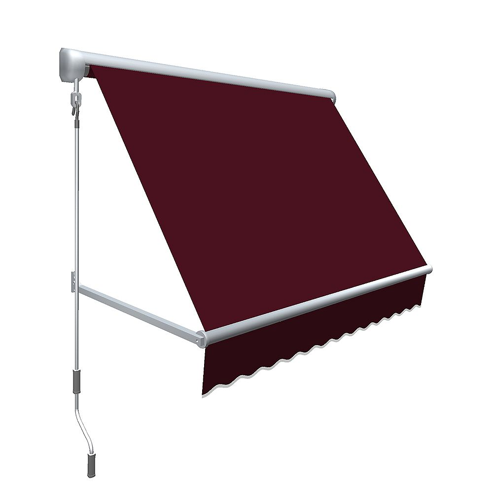 Beauty-Mark 2,44 m (8pi) MESA Auvent rétractable de fenêtre 60,96cm (24po) de haut x 60,96cm (24po) de projection - Bordeaux