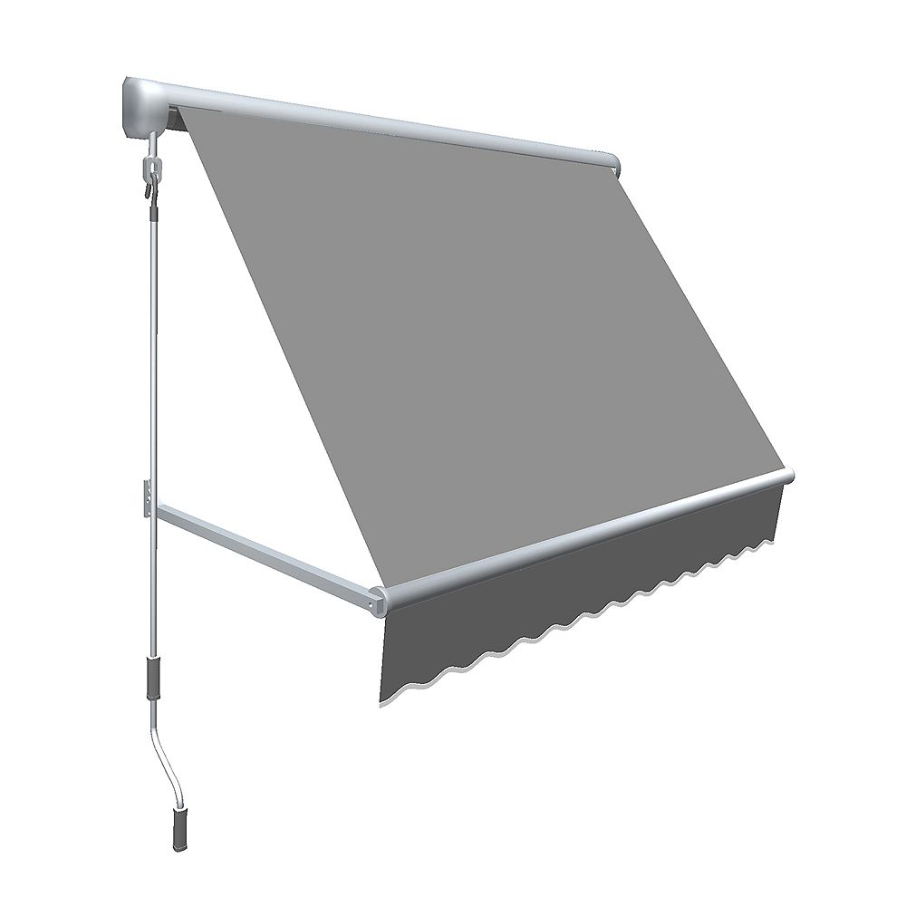 Beauty-Mark Mesa 7 ft. Retractable Window Awning (24-inch Projection) in Gun Metal Gray