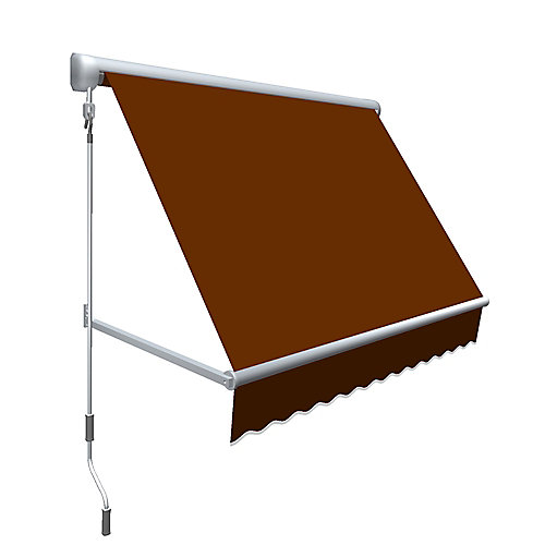Mesa 4 ft. Retractable Window Awning (24-inch Projection) in Terra Cotta