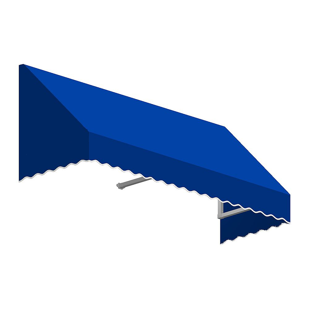 Beauty-Mark 6 Feet OTTAWA (44 in.H x 36 in.D) Window / Entry Awning Bright Blue