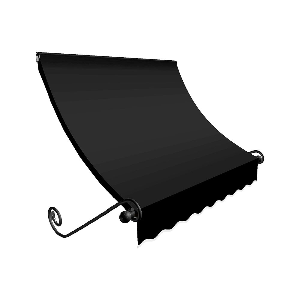 Beauty-Mark 5 Feet MONTREAL (31 in.H x 24 in.D) Window / Entry Awning Black