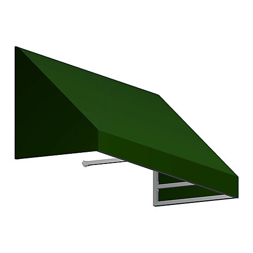 Toronto 4 ft. Low Eaves / Window / Entry Awning (36-inch Projection) in Forest