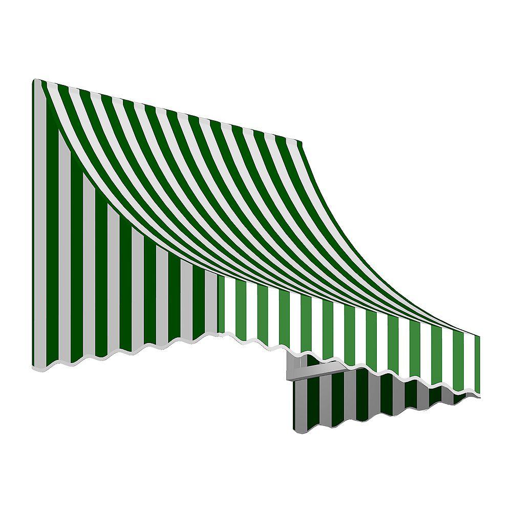 Beauty-Mark 1,52m (5pi) NANTUCKET 78,74 cm (31 po) H x 60,96 cm (24 po) P) Auvent de fenêtre / d'entrée  - Forêt/blanc raies