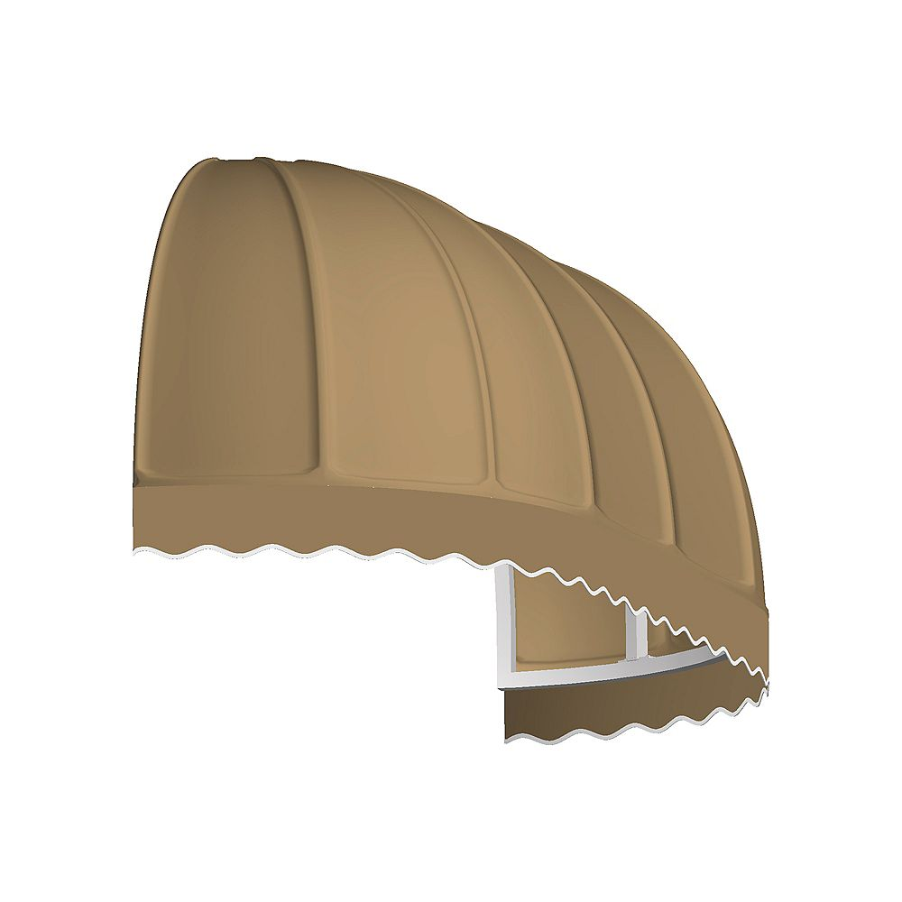 Beauty-Mark 6 Feet VANCOUVER (44 in.H x 36 in.D) Window / Entry Awning Tan