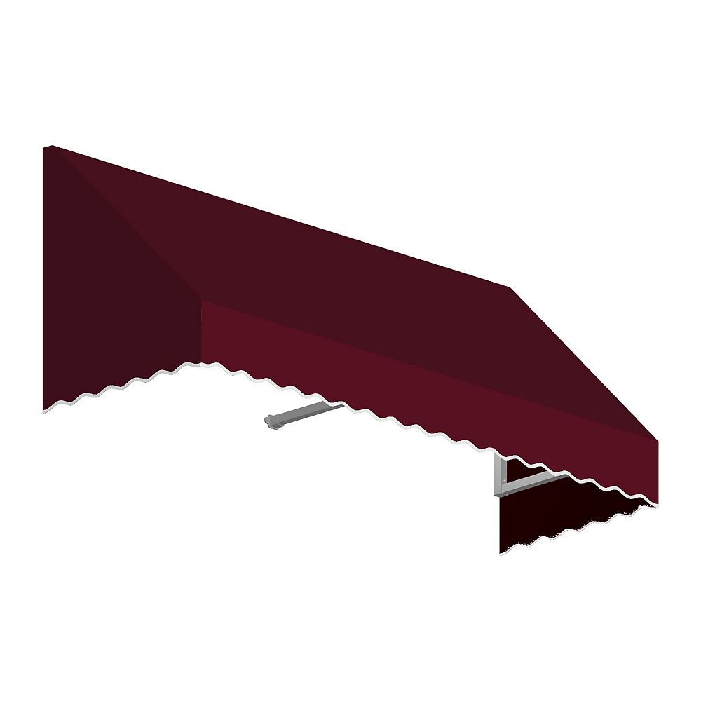 Beauty-Mark Ottawa 6 ft. Low Eaves / Window / Entry Awning (36-inch Projection) in Burgundy