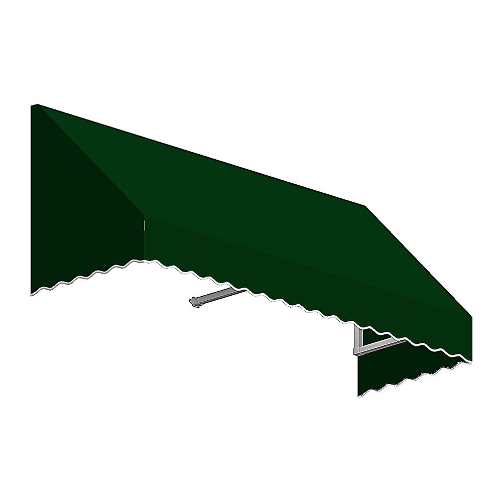 Beauty-Mark Ottawa 4 ft. Low Eaves / Window / Entry Awning (36-inch Projection) in Forest