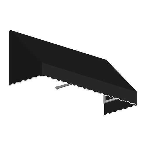 Ottawa 3 ft. Low Eaves / Window / Entry Awning (36-inch Projection) in Black