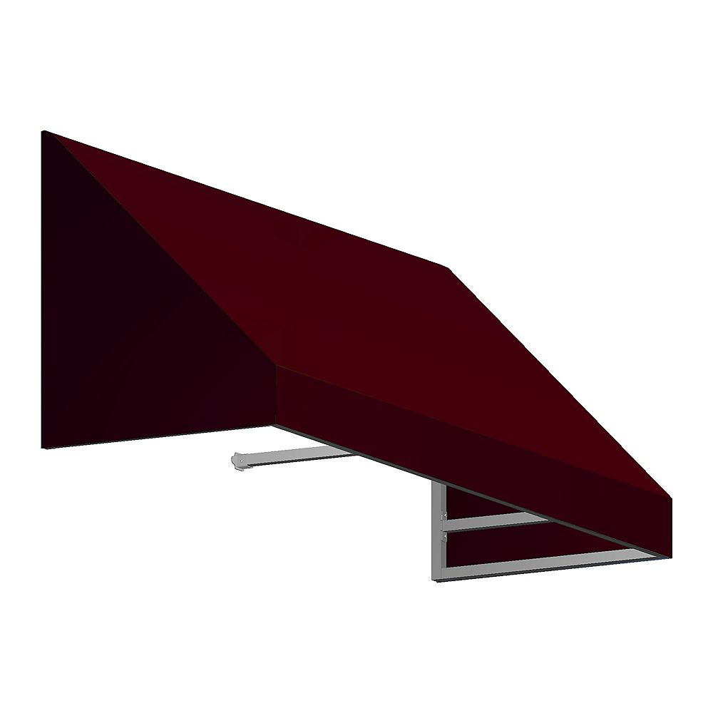 Beauty-Mark Toronto 5 ft. Low Eaves / Window / Entry Awning (36-inch Projection) in Burgundy