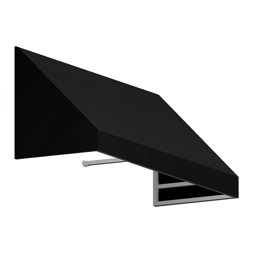 Beauty-Mark Toronto 4 ft. Window / Entry Awning (36-inch Projection) in Black