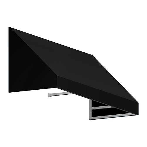 Toronto 6 ft. Low Eaves / Window / Entry Awning (36-inch Projection) in Black