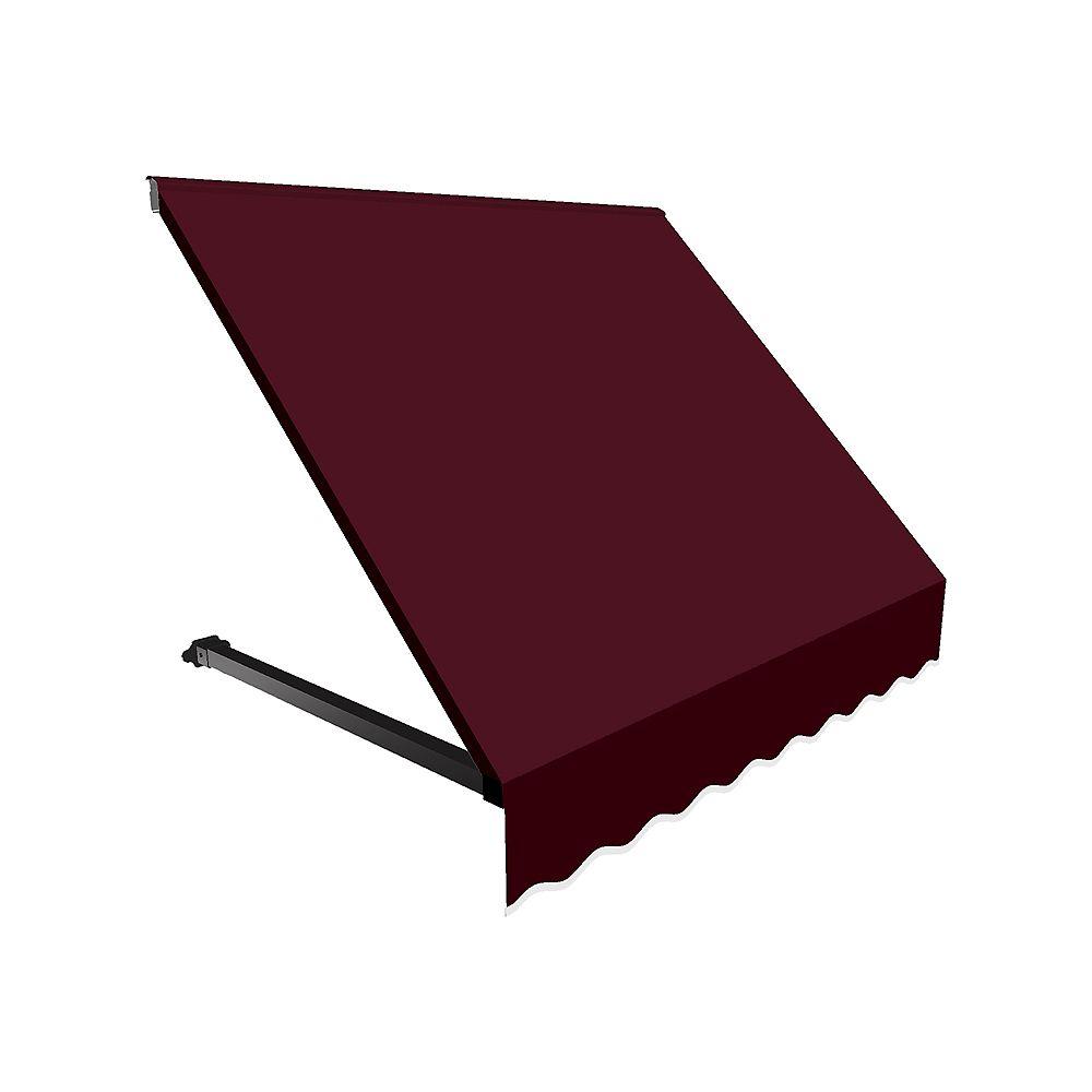 Beauty-Mark 1,52m (5pi) WINNIPEG (1,12m (44po) H x 91,44cm (36po) P) Auvent de fenêtre / d'entrée  - Bordeaux