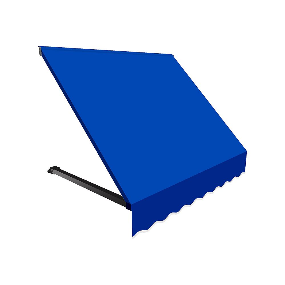 Beauty-Mark 3 Feet WINNIPEG  (44 in.H X 36 in.D) Window / Entry Awning Bright Blue