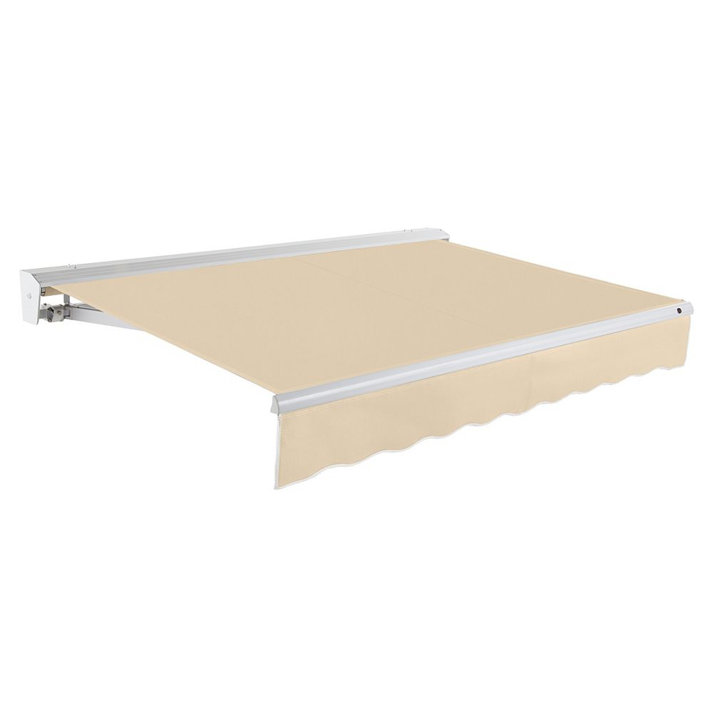 Beauty-Mark 20 ft. DESTIN (10 ft. Projection) Manual Retractable Awning with Hood - Tan