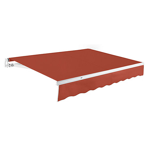Maui 8 ft. Manual Retractable Awning (7 ft. Projection) in Terra Cotta