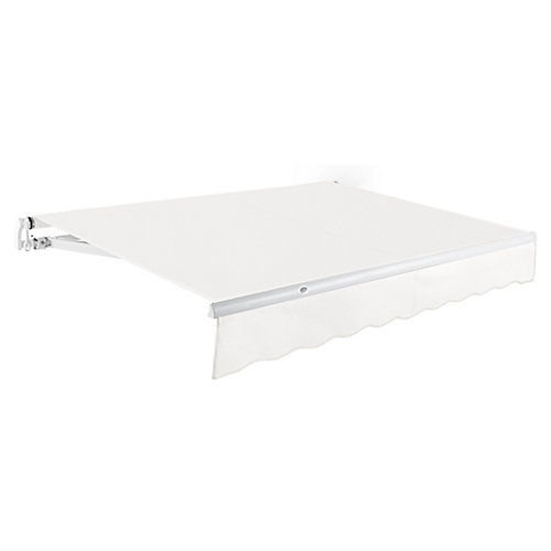Maui 8 ft. Manual Retractable Awning (7 ft. Projection) in Off-White