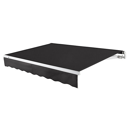 Maui 8 ft. Motorized Retractable Awning (Left Side Motor) (7 ft. Projection) in Black