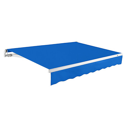 Maui 16 ft. Motorized Retractable Awning (10 ft. Projection) (Right Side Motor) in Bright Blue