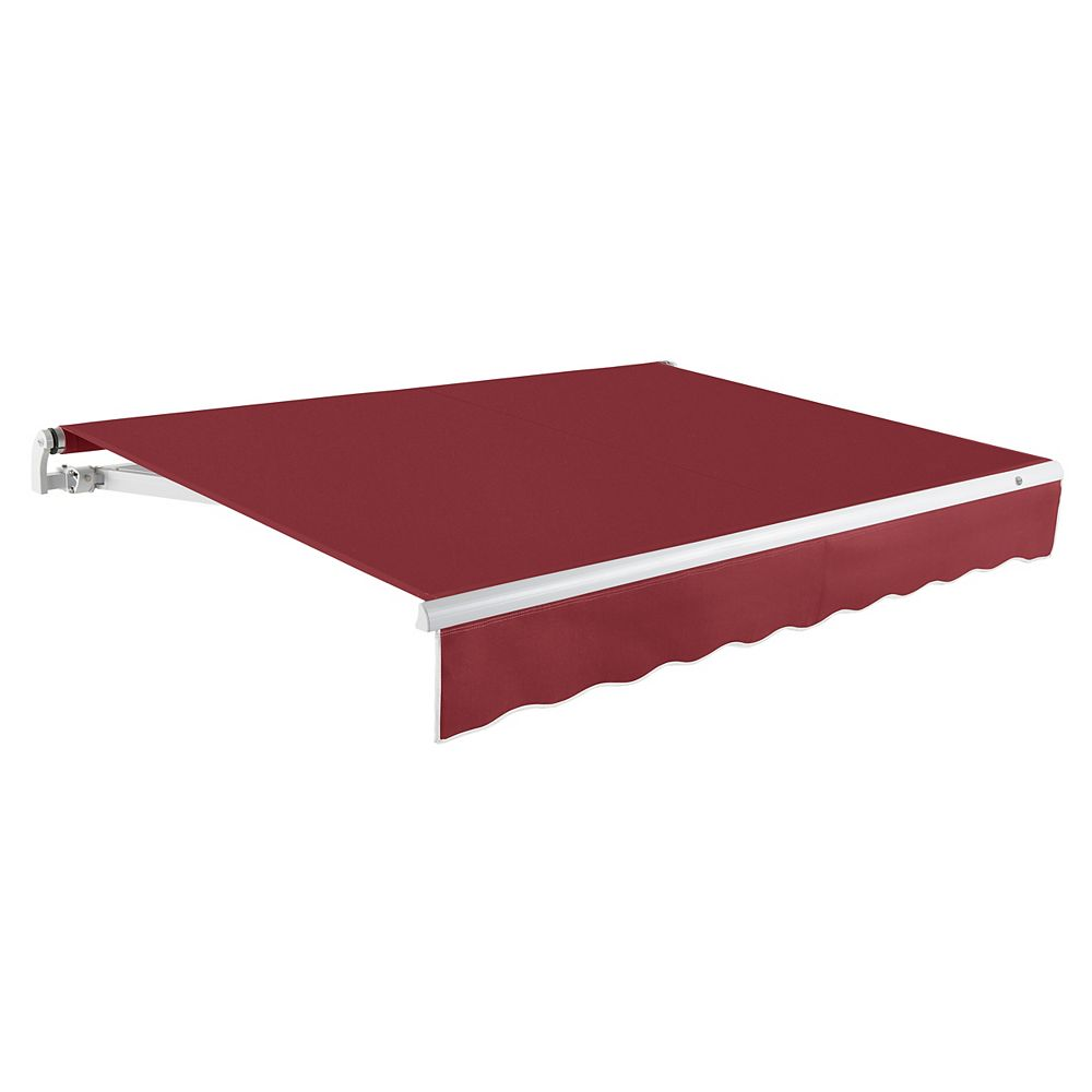 Beauty-Mark Maui 18 ft. (10 ft. Projection) Motorized Retractable Awning in Burgundy