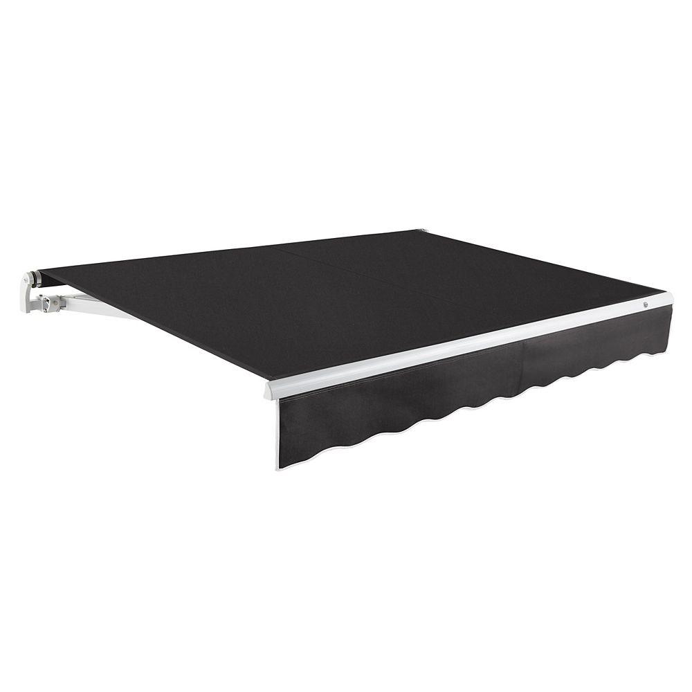 Beauty-Mark 6,10m (20pi) MAUI   Auvent rétractable manuel   (Projection 3,05m [10pi])  - Noir