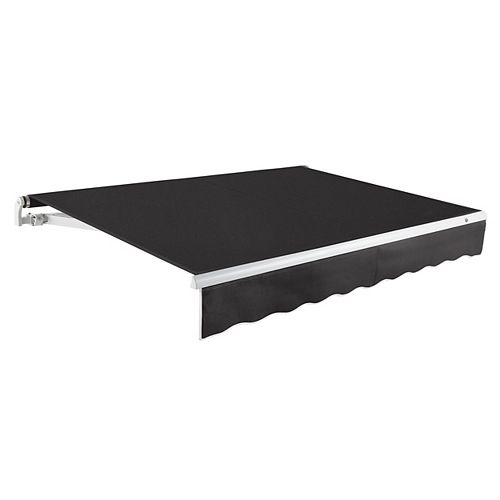 Maui 12 ft. Manual Retractable Awning (10 ft. Projection) in Black