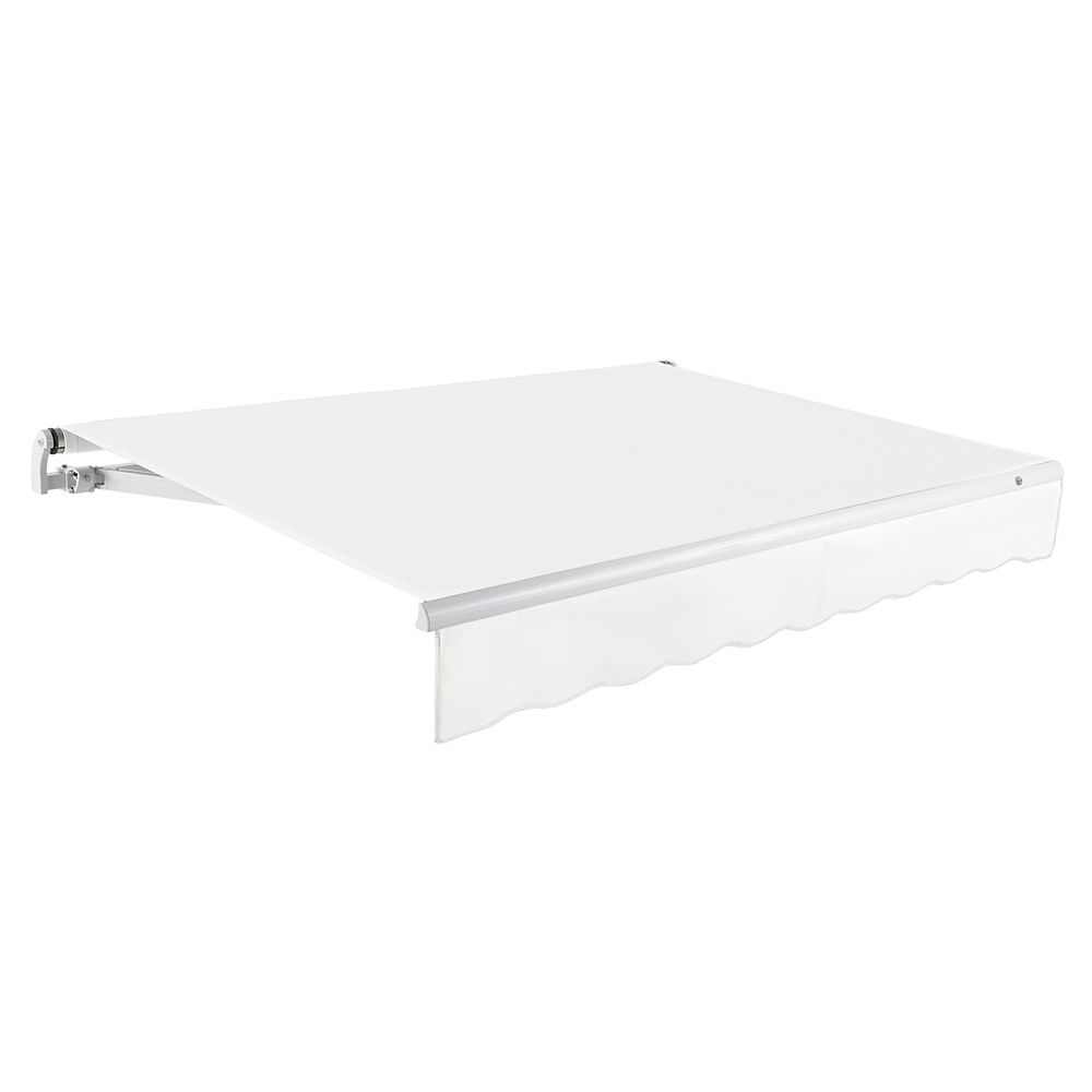 Beauty-Mark Maui 12 ft. Manual Retractable Awning (10 ft. Projection) in Off-White