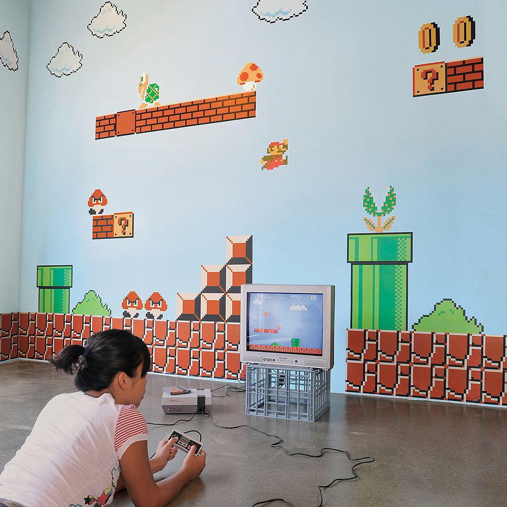 Blik Les autocollants muraux de Super Mario Bros Re-Stik
