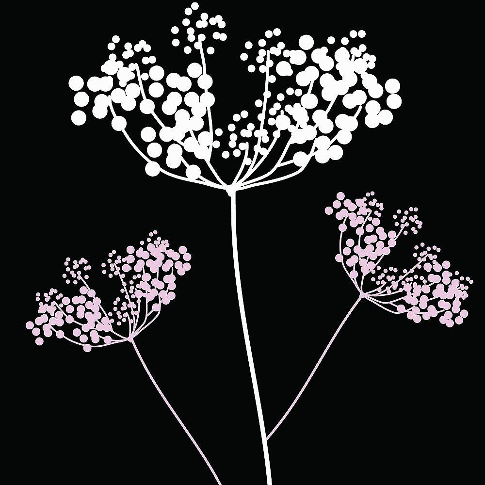 Blik Les autocollants muraux de fleurs de badiane blancs & lilas
