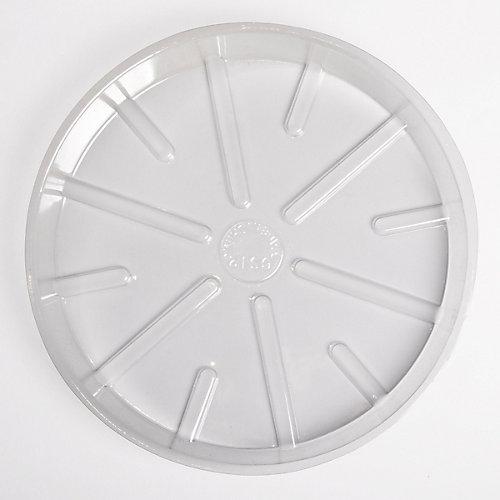 Soucoupe  de base en plastique transparent 10  po