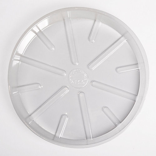 Soucoupe  de base en plastique transparent 8  po