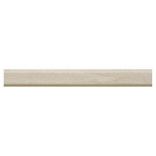 White Hardwood Shelf Edge Moulding - 3/8 x 3/4 x 96 Inches