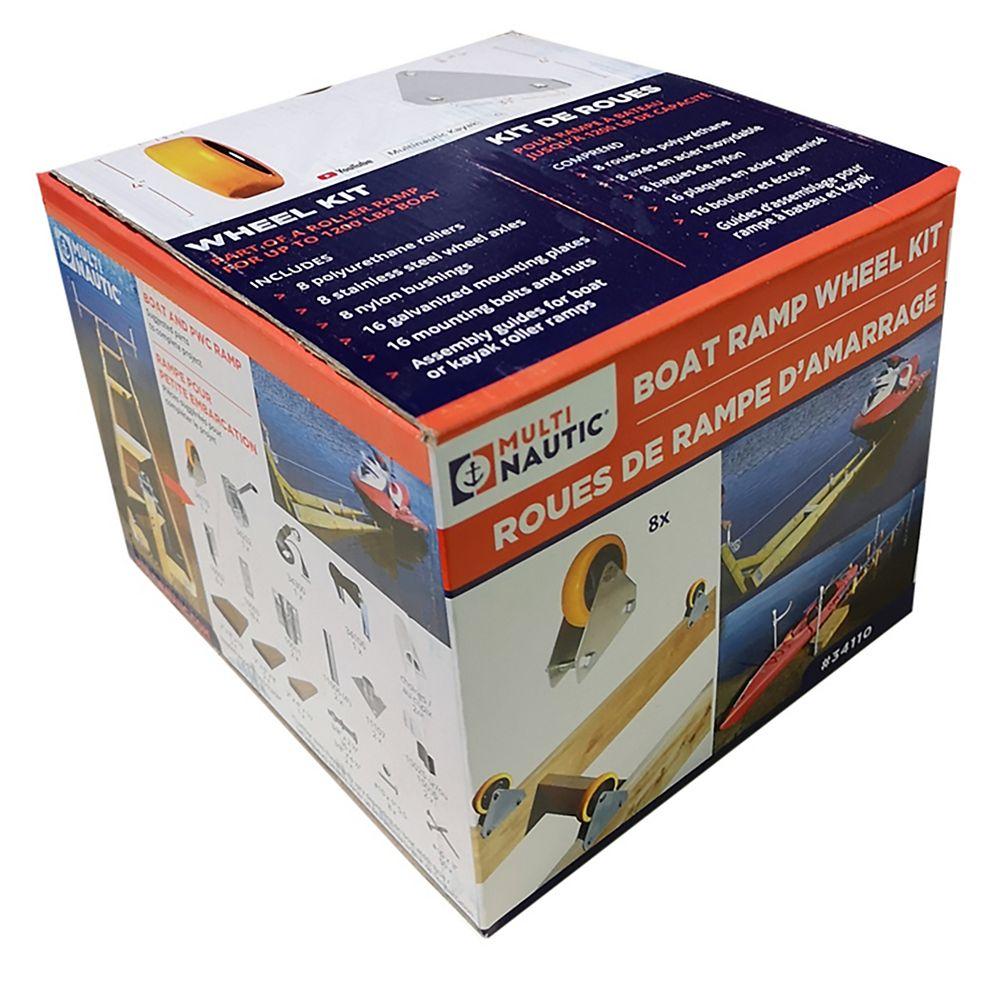 """Multinautic Kit de Roues 4"""" pour rampe de 1200 lb de capacité"""