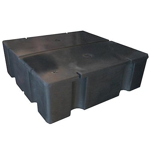 Flotteur en polyéthylène rempli de polystyrène expansé E-830 pour quai