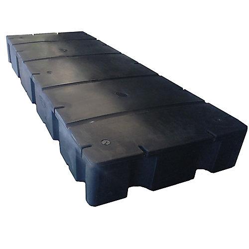Flotteur en polyéthylène rempli de polystyrène expansé E-1230 pour quai