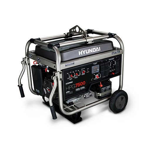 7500 Watt 14HP Electric Start Professional Gas Generator with GFCI Outlets