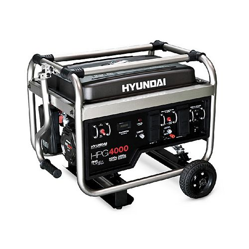 4000 Watt 7HP Manual Start Professional Gas Generator with GFCI Outlets