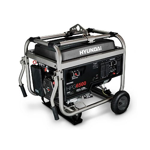6500 Watt 13HP Manual Start Professional Gas Generator with GFCI Outlets