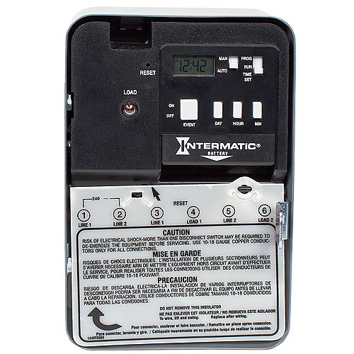 30 Amp 240-Volt DPST Electronic Water Heater Time Switch