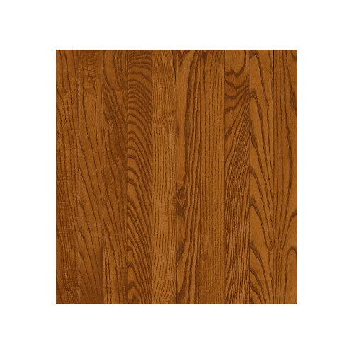 Plancher, bois massif, 3 1/4 po x 3/4 po, Chêne cuivre foncé, 22 pi2/boîte