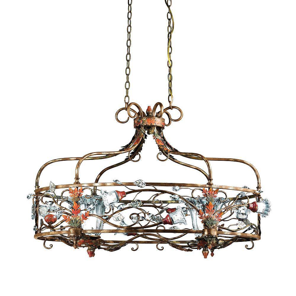 Eurofase Calista Collection 10-Light Russet Chandelier