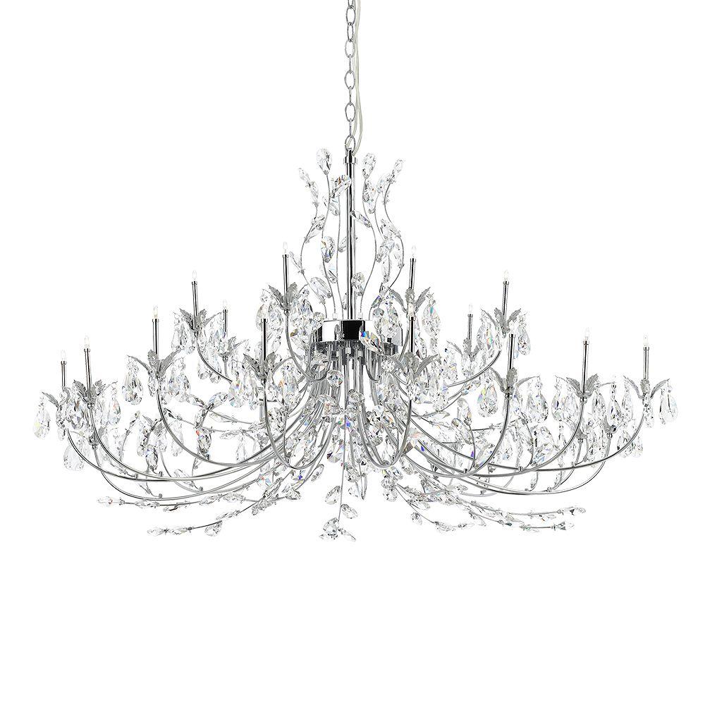 Eurofase Giselle Collection 24-Light Chrome Chandelier