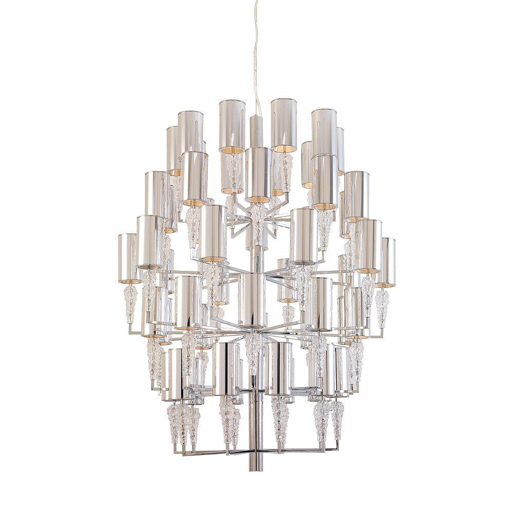 Eurofase Luxuria Collection 51-Light Chrome Chandelier