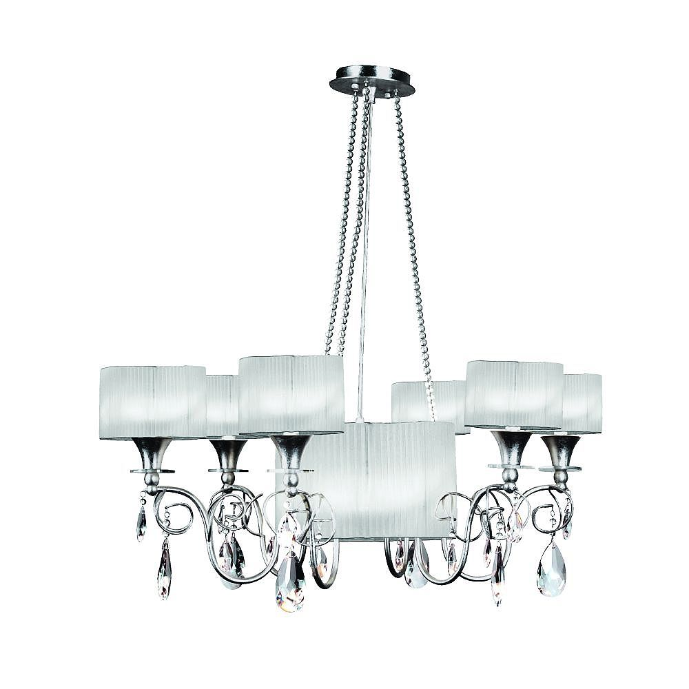 Eurofase Tempest Collection 9-Light Silver Leaf Chandelier