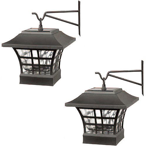 Solar LED Deck Post with Hanging Option (2-Pack)