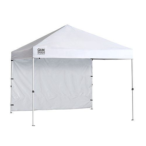 Quik Shade Commercial C100 10 x 10 ft. Straight Leg Canopy - White