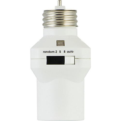 Commande de lumière, douille à capteur de lumière réglable intérieure