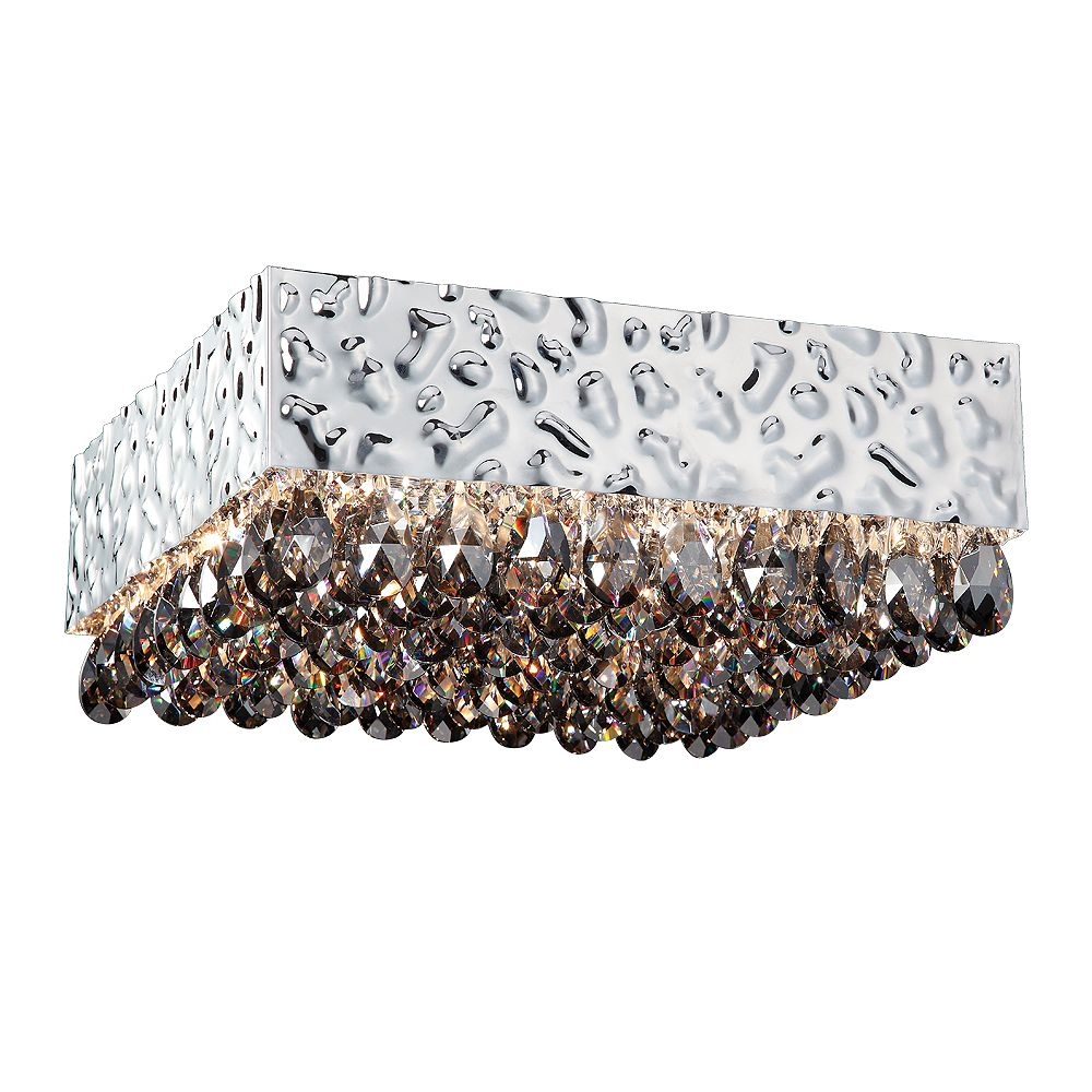 Eurofase Martellato Collection 8-Light Smoke Ceiling Flush Mount