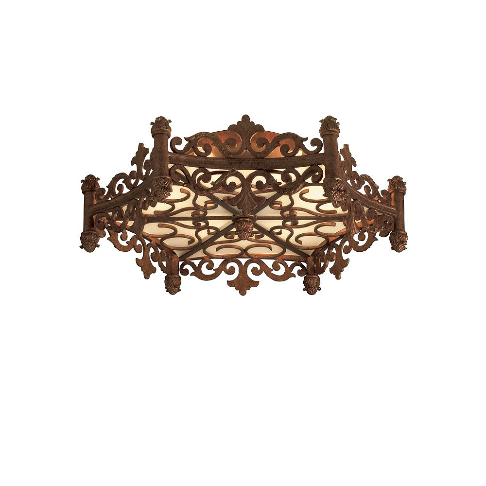 Eurofase Modesa Collection 6-Light Bronze Ceiling Flush Mount