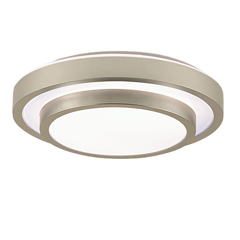 Eurofase Noire Collection 1-Light Silver Flush Mount