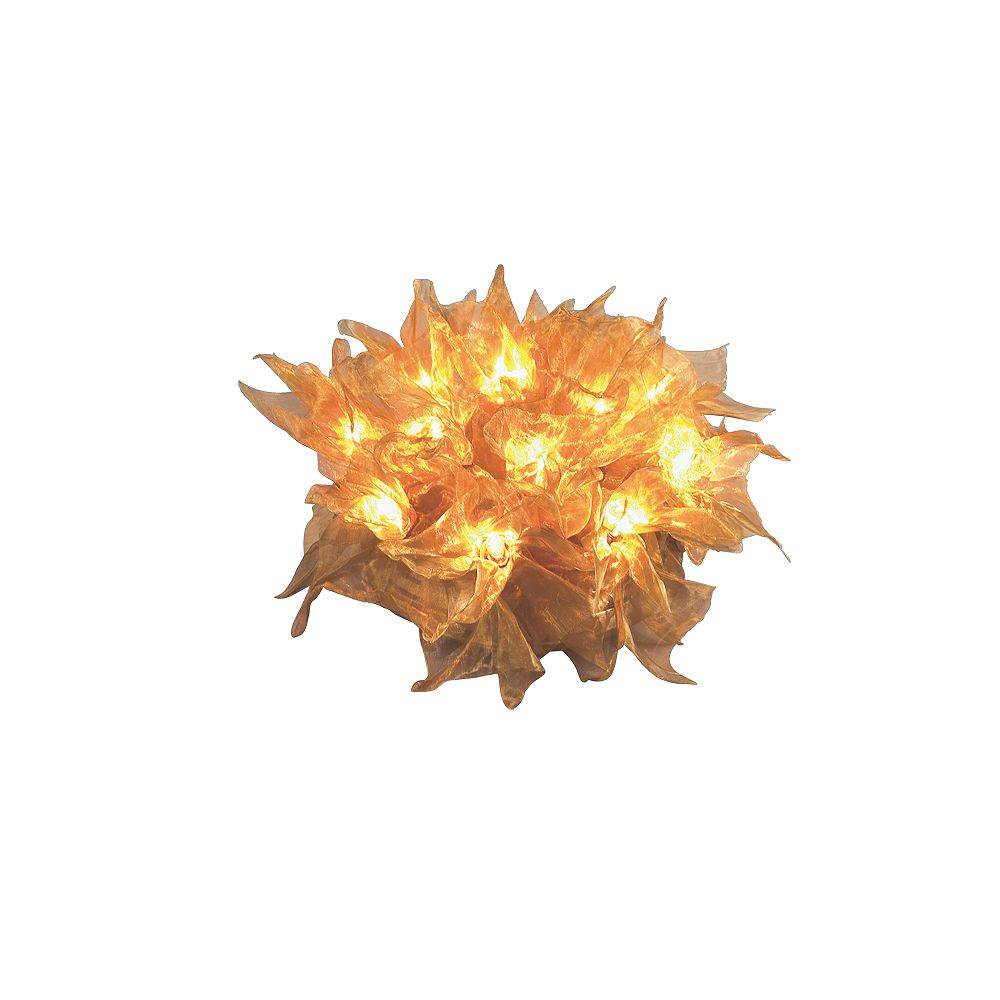Eurofase Zafir Collection 12-Light Gold Flush Mount
