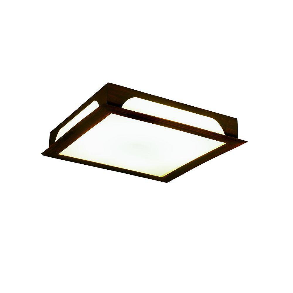 Eurofase Zelkova Collection 2-Light Mahogany Flush Mount
